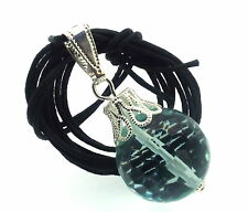16mm Blue Obsidian Sphere Gemstone Crystal Pendant