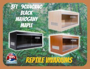 REPTILE WOODEN VIVARIUM - 3FT 90x40x40 Tempered Glass Snake Lizard