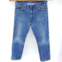 Levi's 505 38x30 VTG 80s Orange Tab Blue Jeans Straight Fit Classic Cowboy Faded