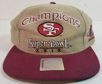 1995 San Francisco 49ers Champions Super Bowl XXIX Cap Hat w/ Hologram New