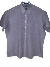 Mens Purtain Cotton Blend Multicolored Wrinkle Free Dress Shirt Size 18 Big