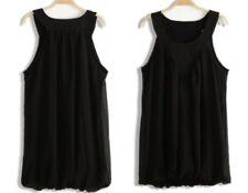 Camisas y tops de mujer sin marca color principal negro de chifón