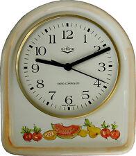 033337F Keramik Küchenuhr  Bogenform Artline Melone-Birne handbemalt Funkuhr