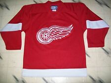 DETROIT RED WINGS HOCKEY JERSEY SIZE MEDIUM NICE SHAPE SEWN & EMBROIDERED CREST