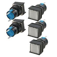 5 Pcs DC12V 2Pin White Square Neon Indicator Light Pilot Signal Lamp