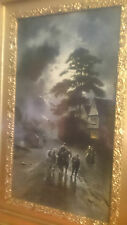 """Very Early Print of """"When Toil Is Done"""" By J W GOZZARD ~ Framed See Condition"""