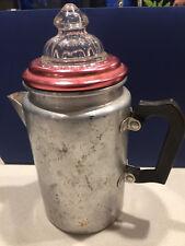 Vintage WARATAH Coffee / Espresso Stove Top Percolater Retro Anodised Aluminium