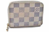 Authentic Louis Vuitton Damier Azur Zippy Coin Purse N63069 LV B0810