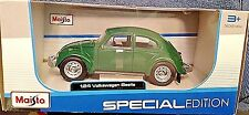 MAISTO 2016 1/24 SPECIAL EDITION GREEN VOLKSWAGEN BEETLE DIECAST CAR NEW! COOL!