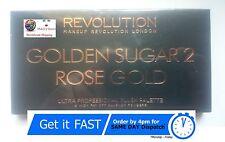 Revolución de maquillaje Paleta 2 Rubores Bronce Dorada De Azúcar & Resaltador De Oro Rosa