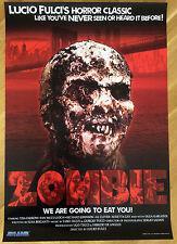 Zombie * Lucio Fulci * Blue Underground Re-Release 27x40 Orig. US Onesheet