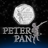 "RARE Worlds 1st 2019 Peter Pan 50p Coin - ""All 6 Designs"" Uncirculated Coin Hunt"