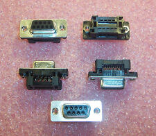 QTY (10) 9 POSITION DSUB IDC RIBBON CABLE RECEPTACLE 747052-4 AMP HDF-20