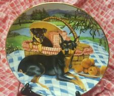 Miniature Pinschers Danbury Mint Family Picnic Ltd Edition Collector Plate