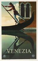 Original Poster - Cassandre - Venezia - Italy - Murano - San Marco- Gondola-1951