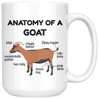 Funny Dairy Goat Anatomy Mug, Unique Goat Farmer Gift Coffee Cup, Birthday Gift