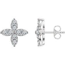diamante Orecchini a fiore in 14k oro bianco (1 1/4 ct. TW