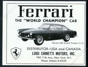 1962 Ferrari 250 GT car photo vintage print ad