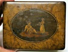 Antique Italy 19th C Georgian / Victorian SORRENTO WARE Wooden BOX