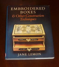 ' EMBROIDERED BOXES & Other Construction Techniques ' by Jane LEMON : SIGNED.