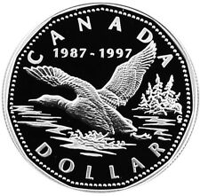 CANADA 1 DOLLAR 1997 Silver PF FLYING LOON - 10TH ANNIVERSARY - Box/CoA