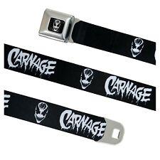 Carnage Black & White Seatbelt Belt Black