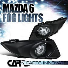 For 2003-2005 Mazda 6 Clear Lens Fog Lights Driving Bumper Lamps Pair+Switch