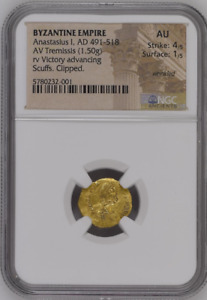 Anastasius I, AD 491-518 BYZANTINE EMPIRE AV Tremissis 5780232/1