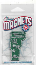 VERMONT  VT  THE GREEN MOUNTAIN    STATE OUTLINE MAP MAGNET in Souvenir Bag, NEW