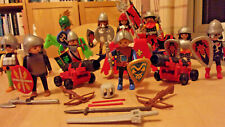 PLAYMOBIL RED DRAGON KNIGHTS HORSES FIGURES ARMOUR CANNONS Huge Joblot
