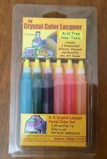 Sakura 3D Crystal Lacquer 6 Pastel Color Applicator Pen Set 03001 hobby crafts