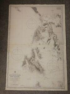 ADMIRALTY MAP/SEA CHART-ANTI PAXOS ISLANDS TO CAPE GLARENZA- 1867/1921/1981