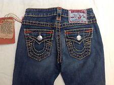 New Women's True Religion Joey SuperT Medium Wildcat Multi Stitch Jeans RRP $319