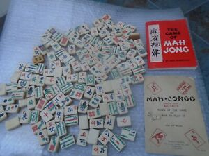 Early CHAD VALLEY first edition MAH-JONG tiles with original instructions  LOOK