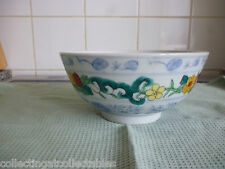 Large Vintage Hand Painted  Chinese  Bowl