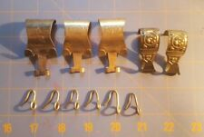5+ Victorian BRASS PICTURE HANGERS or MOLDING HOOKS (Antique, Vintage, Painting)