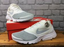 buy popular 9eb7a af895 Nike Air Femmes UK 8 EU 42.5 Presto Fly se White Wolf Grey Mesh Baskets RRP  £ 85