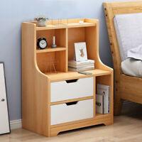 Nightstand Bedside Bedroom End Side Table 3 Drawer Stand Storage Furniture US