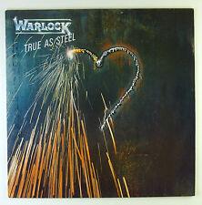 """12"""" LP - Warlock - True As Steel - k5290 - washed & cleaned"""