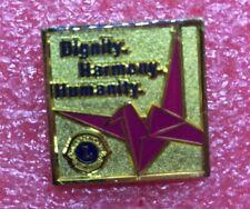 Pins LIONS CLUB INTERNATIONAL DIGNITY HARMONY HUMANITY Vintage Lapel Pin Badge