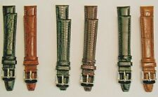 Leather Padded Watch Straps unbranded with polished stainless steel buckles