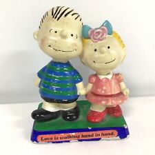 1970's Peanuts Collectable Linus & Sally Ornamental Figurine #544