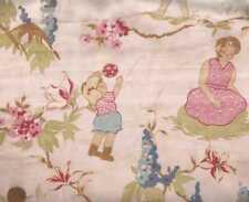 Secret Garden pink retro childrens sheeting Moda fabric