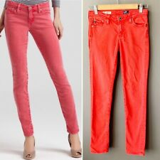 Adriano Goldschmied The Stevie Ankle Slim Straight Stretch Red Denim Jeans 25