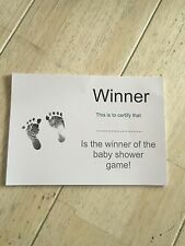 Winner Certificate - Baby Shower Games X20 Sheets - Everyone Can Be A Winner X