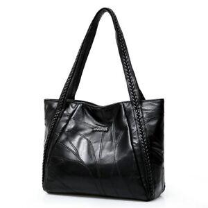 Women Tote Bag Genuine Sheepskin Patchwork Casual HandBag Ladies Shoulder Bag
