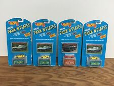(4) 1989 Mattel Hot Wheels PARK N PLATES 1963 Corvette x 3 and 1965 Mustang