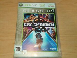 CRACKDOWN XBOX 360 GAME COMPLETE MAP & MANUAL VGC.