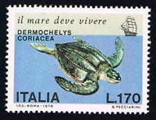 ITALIA FRANCOBOLLO SALVAGUARDIA DEL MARE TARTARUGA MARINA 1978 nuovo**