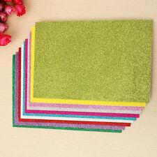 """6Pcs Glitter Craft Foam Scrapbooking Paper Vinyl Sticker Art Sheets Craft 8x12"""""""